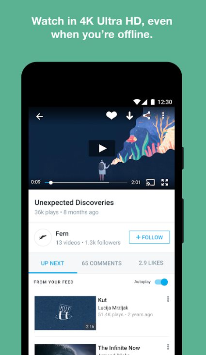 vimeo - Best YouTube Alternative Video Watching Apps