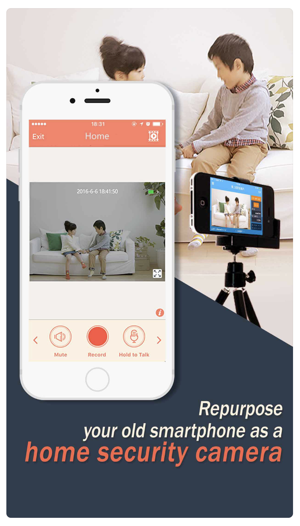 AtHome Camera surveillance app - iPhone Webcam Apps to Use iPhone as Webcam
