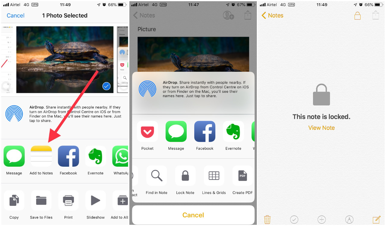 How to Hide Photos on iPhone using Notes App