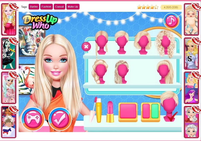Barbie Dress up Games for Girls - Barbie Dress up Games Online