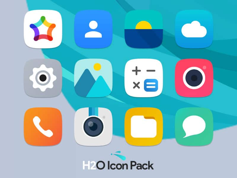 H2O Free Icon Pack - Best Nova Launcher Themes and Customization Tips for Nova Launcher