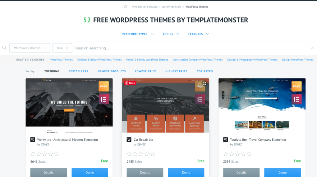 Download Free WP Themes - FREE WordPress Themes by TemplateMonster