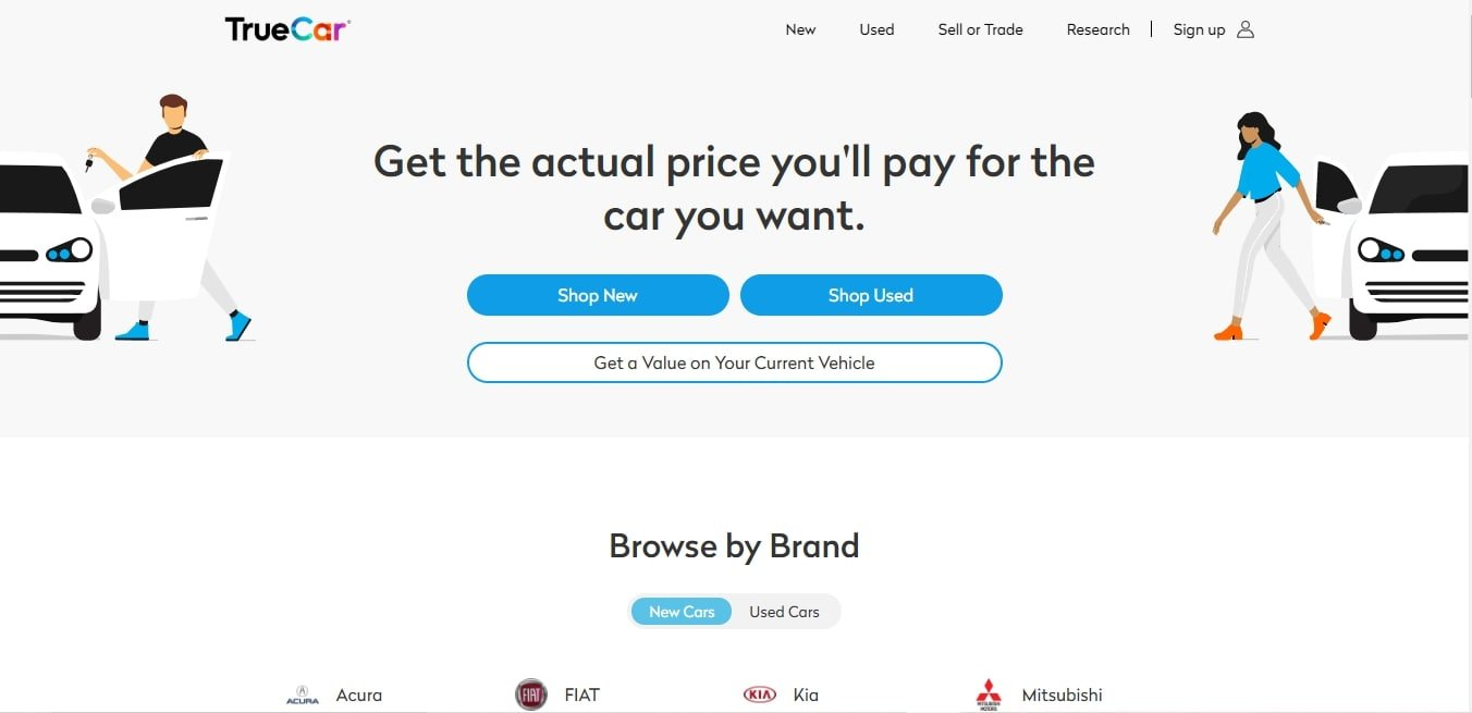 TrueCar - Best Free Carfax Alternatives Similar to Carfax