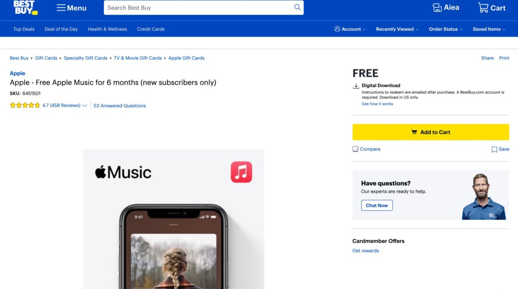 Apple Music Free Trial Redeem Code - Get Apple Music Free Trial for 6 months