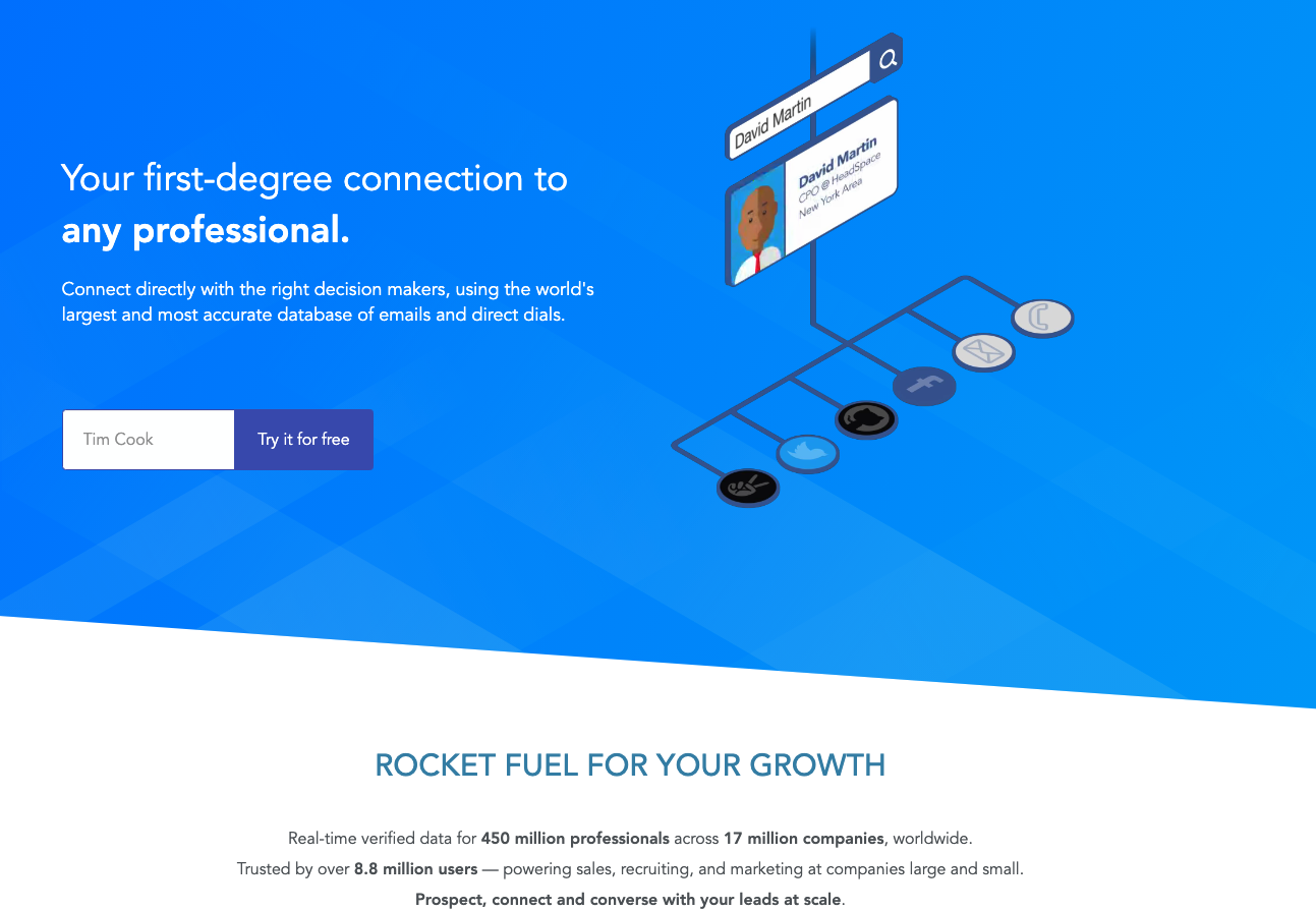 RocketReach - best email finder tool for marketing needs - linkedin finder tool - free email finding tools